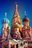Cathédrale de StBasil à Moscou Images libres de droits