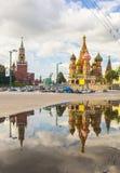 Cathédrale de StBasil à Moscou image libre de droits