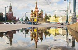 Cathédrale de StBasil à Moscou image stock