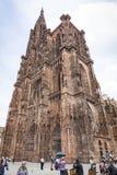 Cathédrale de Strasbourg (Cathedrale Notre-Dame De Strasbourg), Alsa Photo libre de droits