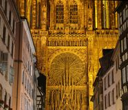 Cathédrale de Strasbourg dans les Frances Image stock