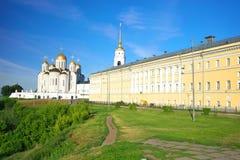 Cathédrale de supposition chez Vladimir en été, Russie Images stock