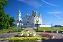 Cathédrale de supposition chez Vladimir en été, Russie Image stock