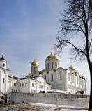 Cathédrale de supposition chez Vladimir en hiver Photo libre de droits