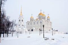 Cathédrale de supposition dans Vladimir Images libres de droits