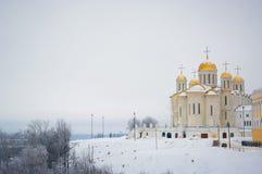 Cathédrale de supposition dans Vladimir Images stock