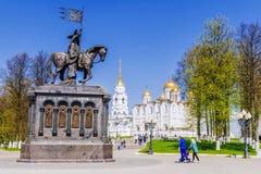 Cathédrale de supposition dans Vladimir Boucle d'or de la Russie Photographie stock