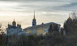 Cathédrale de supposition dans Vladimir Boucle d'or de la Russie Photo stock