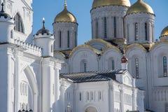 Cathédrale de supposition dans Vladimir Boucle d'or de la Russie Images libres de droits