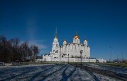 Cathédrale de supposition dans Vladimir Boucle d'or de la Russie Image libre de droits