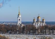 Cathédrale de supposition dans Vladimir Boucle d'or de la Russie Photos libres de droits