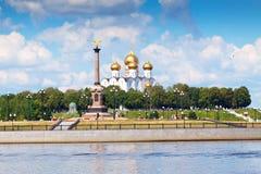Cathédrale de supposition dans Yaroslavl Images stock