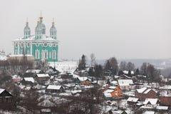 Cathédrale de supposition (Uspensky). Smolenk. La Russie. Photo libre de droits