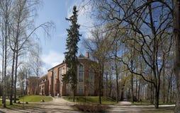 Cathédrale de Tartu et le parc sur la colline de Toome Photographie stock libre de droits
