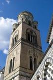 Cathédrale de tour d'Amalfi Image libre de droits