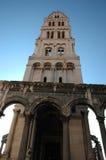 Cathédrale de tour de cloche de St Duje Photo stock