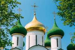 Cathédrale de transfiguration dans le monastère du saint Images libres de droits