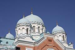 Cathédrale de transfiguration du monastère de Valaam, République de la Carélie, Fédération de Russie images stock