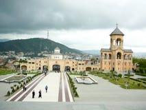 Cathédrale de trinité sainte à Tbilisi, la Géorgie Image libre de droits