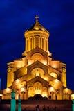 Cathédrale de trinité sainte de Tbilisi, trinité ou Sameba Photographie stock libre de droits