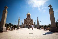 Cathédrale de Tsmind Sameba, Tbilisi Images libres de droits