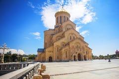 Cathédrale de Tsminda Sameba Image libre de droits