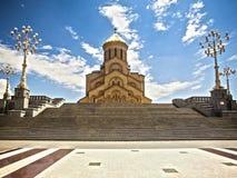 Cathédrale de Tsminda Sameba Images stock