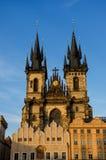 Cathédrale de Tyn à Prague Photo libre de droits