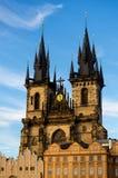 Cathédrale de Tyn à Prague Images libres de droits