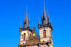 Cathédrale de Tyn à Prague image libre de droits