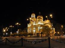 Cathédrale de Varna la nuit, Bulgarie Photos libres de droits