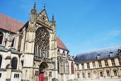 Cathédrale de vieille ville de Sens - France Photographie stock libre de droits