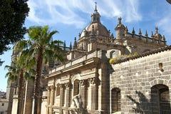 Cathédrale de ville de San Salvador de Jerez de la Frontera Photos libres de droits
