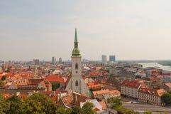 Cathédrale de ville de St Martin et de Bratislava, Slovaquie Photographie stock