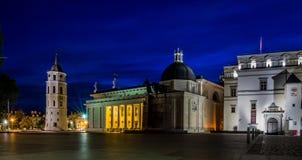 Cathédrale de Vilnius la nuit Images stock