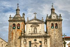 Cathédrale de Viseu au Portugal photographie stock libre de droits
