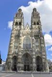 Cathédrale de visites, France Image stock