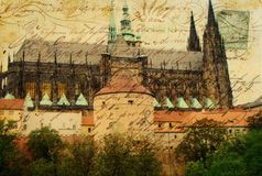 Cathédrale de vitus de rue Photo libre de droits