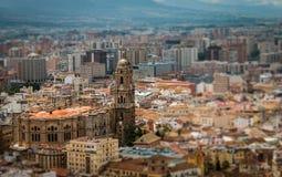 Cathédrale de vue aérienne de Malaga Image libre de droits