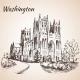 Cathédrale de Washington National - Etats-Unis illustration de vecteur