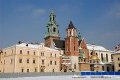 Cathédrale de Wawel à Cracovie Image libre de droits