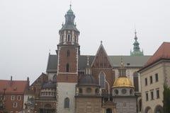 Cathédrale de Wawel à Cracovie, Pologne Image stock