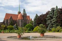 Cathédrale de Wroclaw Images libres de droits