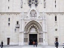 Cathédrale de Zagreb Images stock