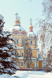 Cathédrale de Zenkov à Almaty, Kazakhstan image stock