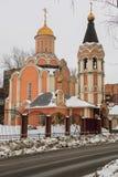 Cathédrale des nouveaux martyres et confesseurs de la Russie, secteur de Kuchino, région de Moscou Image libre de droits