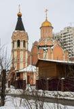 Cathédrale des nouveaux martyres et confesseurs de la Russie, secteur de Kuchino, région de Moscou Image stock