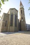 Cathédrale des vues toscanes d'aperçu d'église de cathédrale d'Arezzo images libres de droits