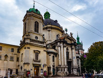 Cathédrale dominicaine à Lviv Image stock
