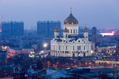 Cathédrale du Christ le sauveur à Moscou Photos libres de droits